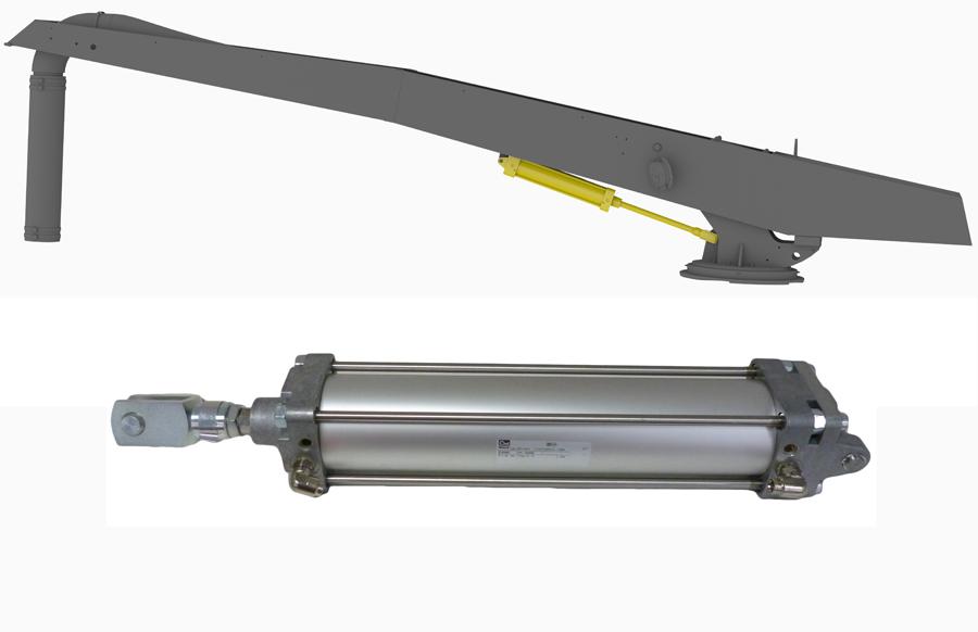 Pneumatic Lift Assist : Boom lift assist air cylinder