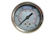 0-100 PSI Water Pressure Gauge Back Mounted