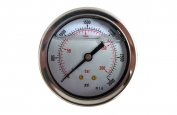 0-3000 PSI Water Pressure Gauge Back Mounted