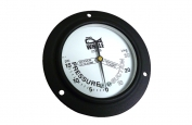 -30+15 PSI Vac Pressure Gauge Front Mounted