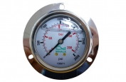 0-3000 PSI Water Pressure Gauge Font Mounted